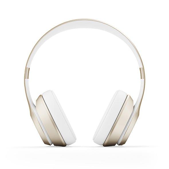 Golden headphones - 3DOcean Item for Sale