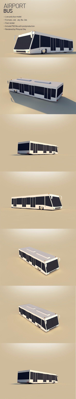 Airport Bus - 3DOcean Item for Sale