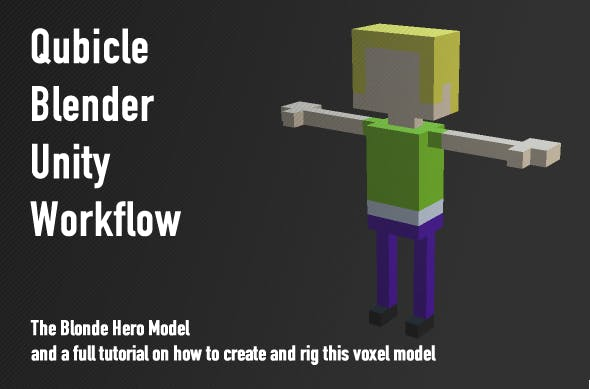 Qubicle-Blender-Unity3D Character Workflow - 3DOcean Item for Sale