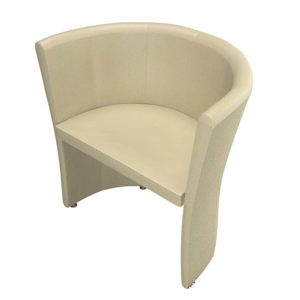 White Leather Armchair - 3DOcean Item for Sale