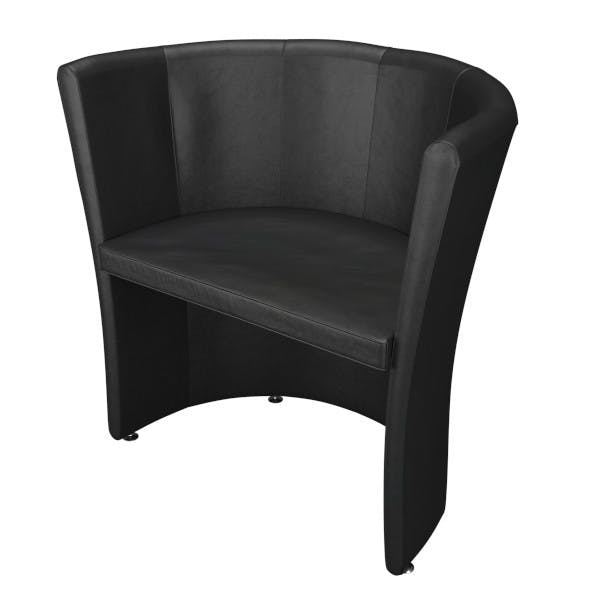 Black Leather Armchair - 3DOcean Item for Sale