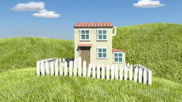 Cartoon Style House - 3DOcean Item for Sale