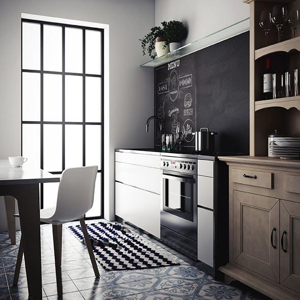 Vintage kitchen scene setup c4d + vray - 3DOcean Item for Sale