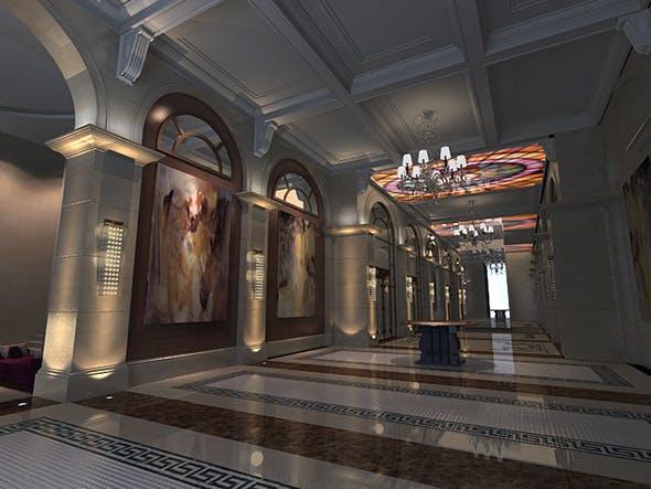 Hotel lobby - 3DOcean Item for Sale