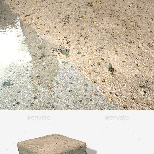 Sand and Small Stones Seamless Texture