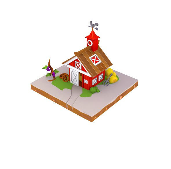 Barn Low Poly - 3DOcean Item for Sale