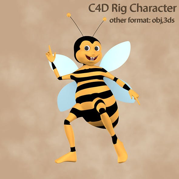 Bee Rigged Character