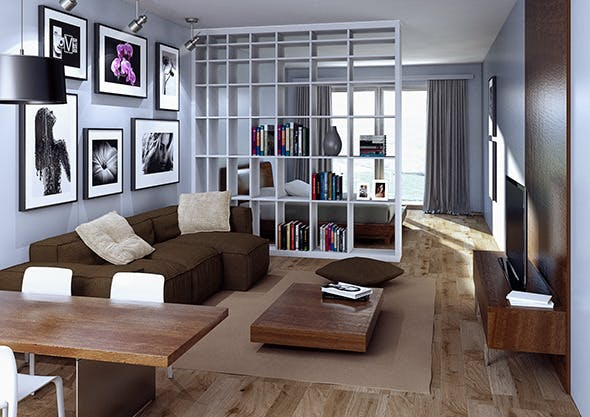Apartment interior for C4D & VRay - 3DOcean Item for Sale