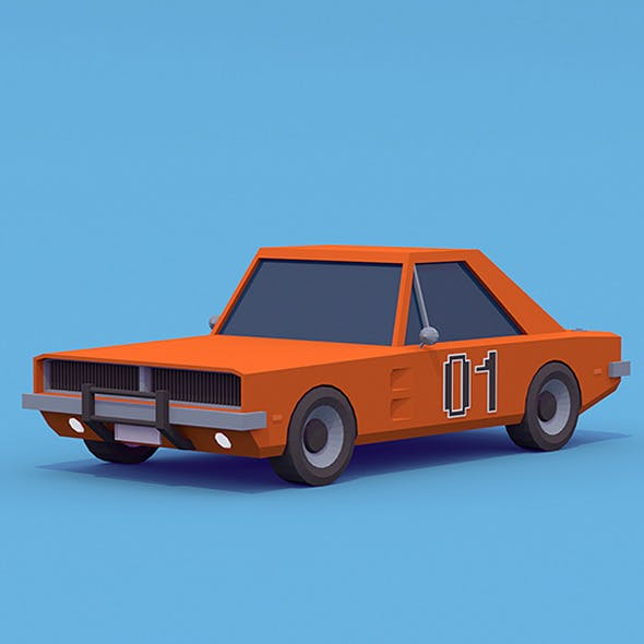 Dodge Charger - General Lee 1969 - 3DOcean Item for Sale