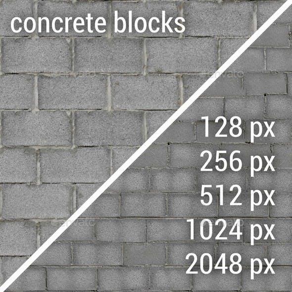 Concrete Blocks Textures - 3DOcean Item for Sale