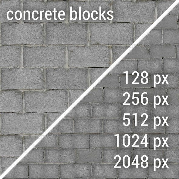 Concrete Blocks Textures