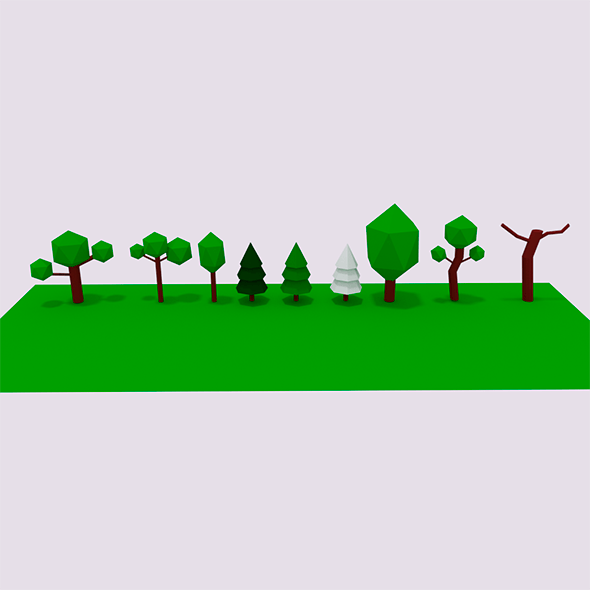 Lowpoly Tree pack