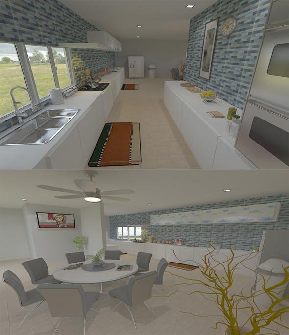 Interior Design - Kitchen - 3DOcean Item for Sale