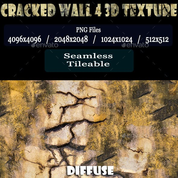 Cracked Wall 4 3D Texture