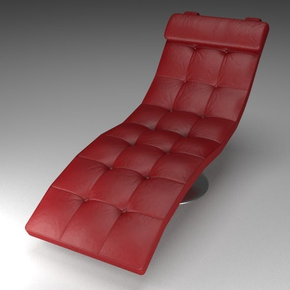 Red Leather Lounger - 3DOcean Item for Sale