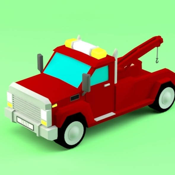 Low poly Pickup Evacuator