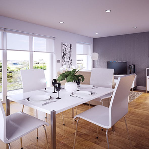 Dining Room / Lounge interior Vray for Cinema 4D