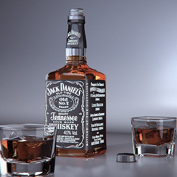 Jack Daniels product visual - Vray for Cinema 4D