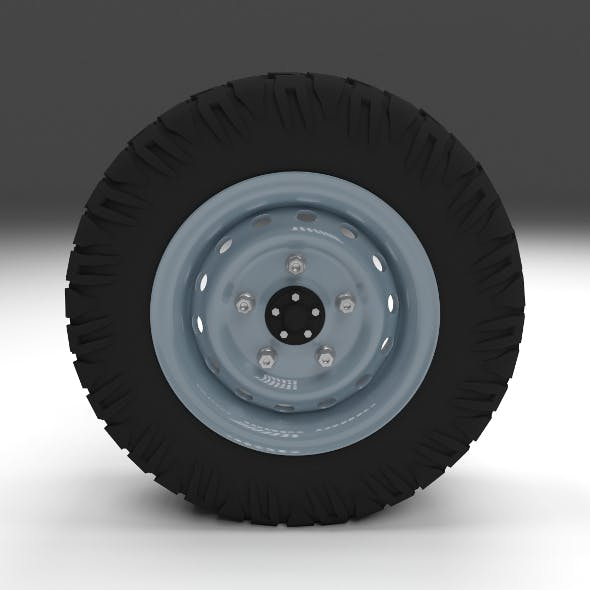 Offroad Wheel - 3DOcean Item for Sale