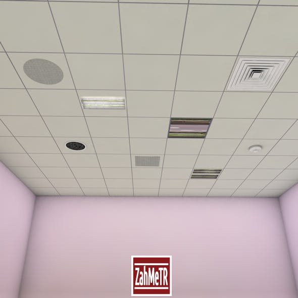 Office Ceiling Panels  - 3DOcean Item for Sale