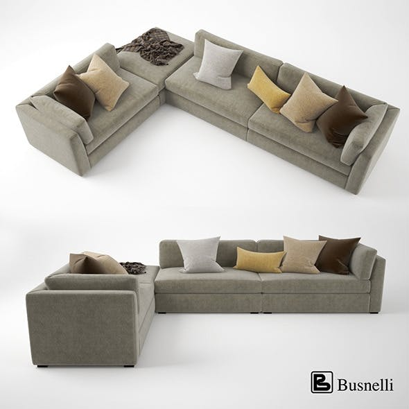 Busnelli Oh-mar Corner Sectional Sofa