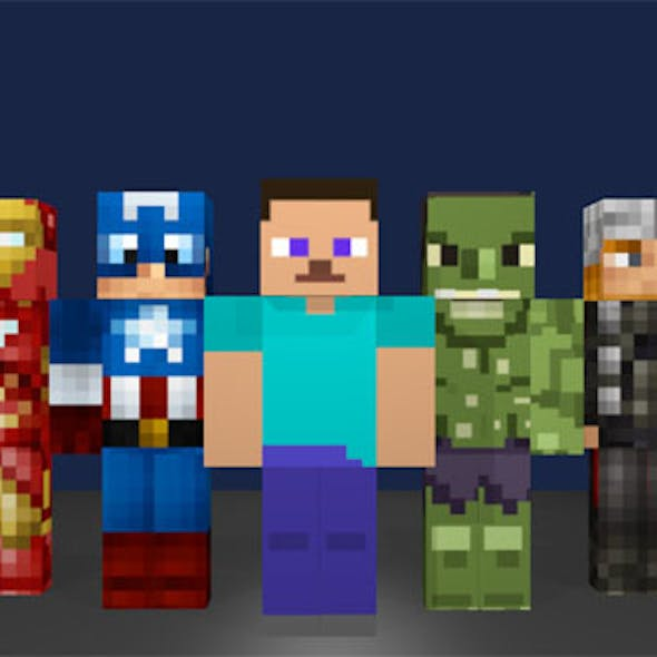 Minecraft Avengers Pack