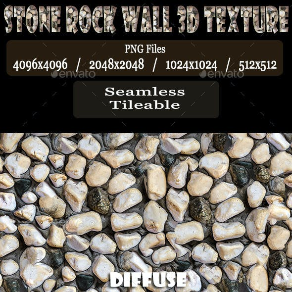 Stone Rock Wall 3D Texture