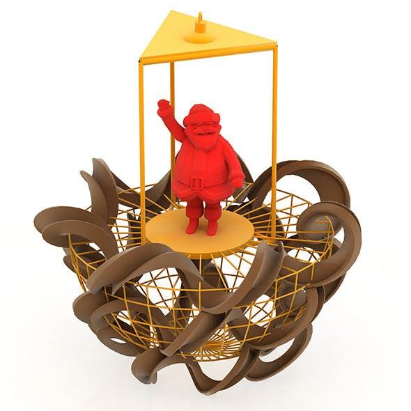 Christmas Tree Ornament Santa Claus - 3DOcean Item for Sale