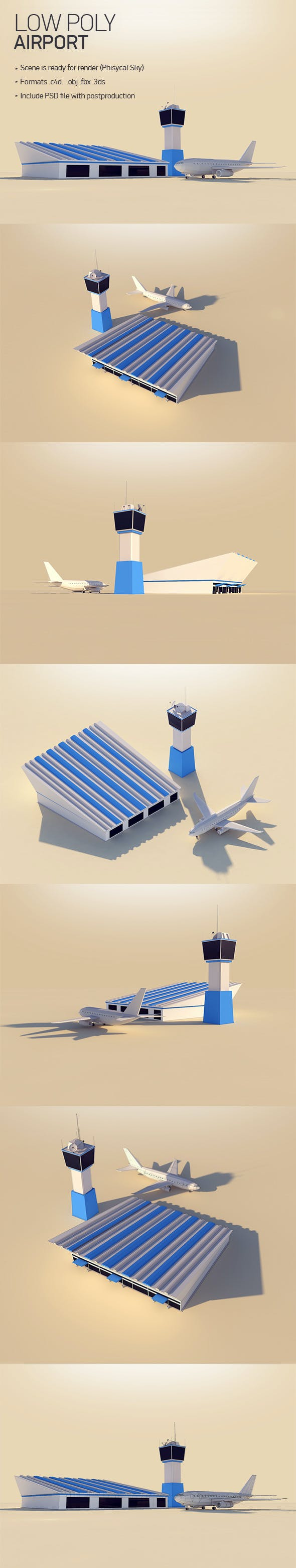 Lowpoly Airport - 3DOcean Item for Sale