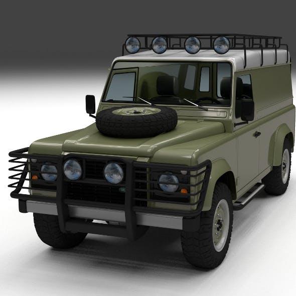 Land Rover Defender 110 Hard Top w interior