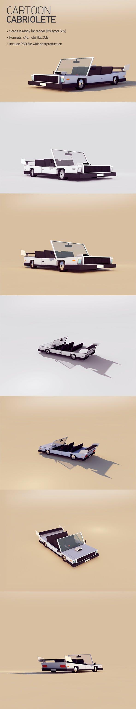 Cartoon Cabriolet - 3DOcean Item for Sale