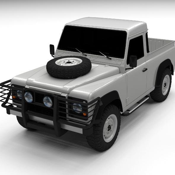 Land Rover Defender 90 Pick Up - 3DOcean Item for Sale