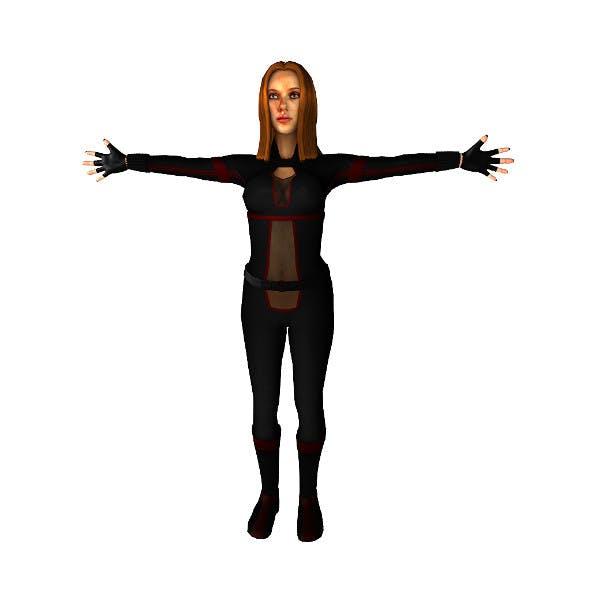 Black Widow inspired char lowpoly
