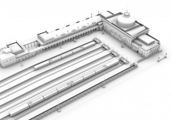 Odessa Train Station Ukraine - 3DOcean Item for Sale