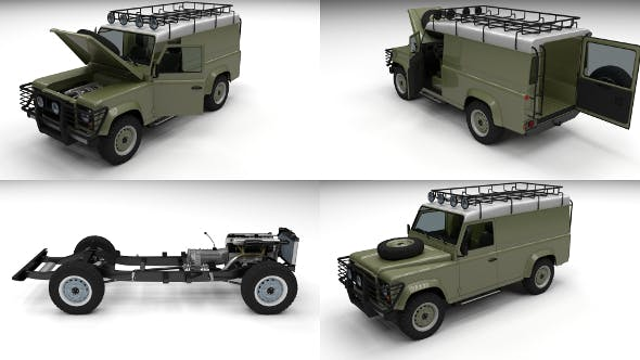 Full Land Rover Defender 110 Hard Top - 3DOcean Item for Sale