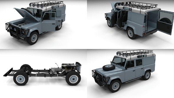 Full Land Rover Defender 110 Utility Station Wagon - 3DOcean Item for Sale