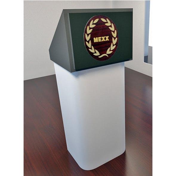 Speech Podium - 3DOcean Item for Sale