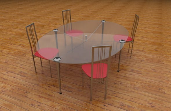 table with chair - 3DOcean Item for Sale