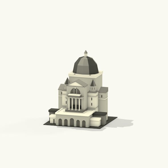 Lowpoly Montreal Building