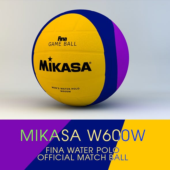 Mikasa W600W Water Polo Ball 3D Model - 3DOcean Item for Sale