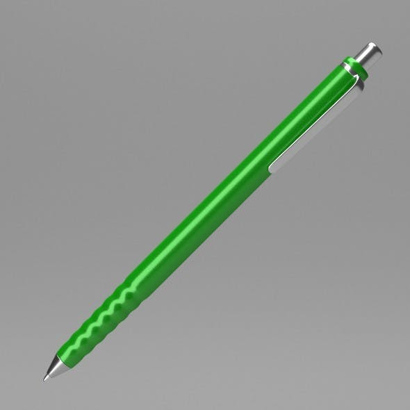 Green Pen - 3DOcean Item for Sale