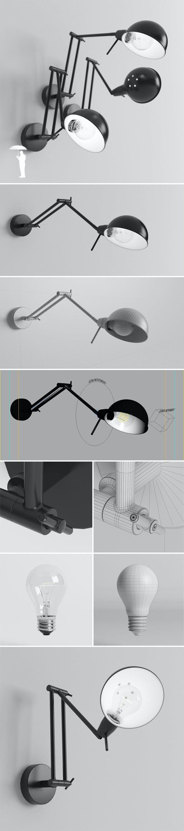 Glasgow lamp plus bulb - 3DOcean Item for Sale