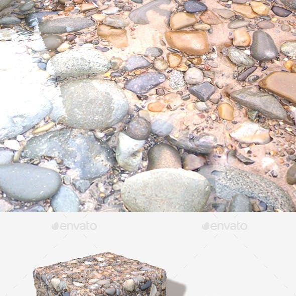 Wet Beach Rocks Seamless Texture