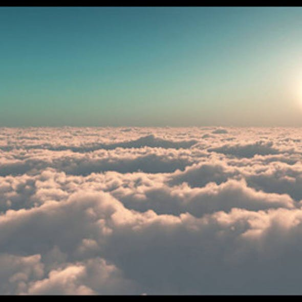 'UP FROM THE CLOUD' Scene Created In E-on Software