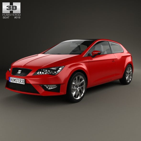 Seat Leon SC FR 2013 - 3DOcean Item for Sale