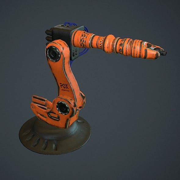 Industrial Robotic Arm  - 3DOcean Item for Sale