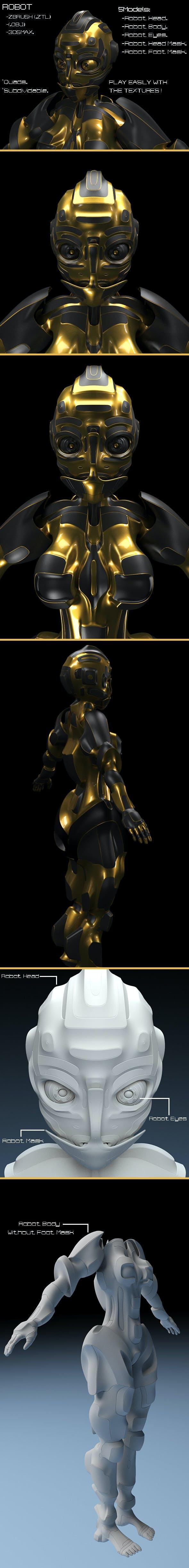 Robot. - 3DOcean Item for Sale