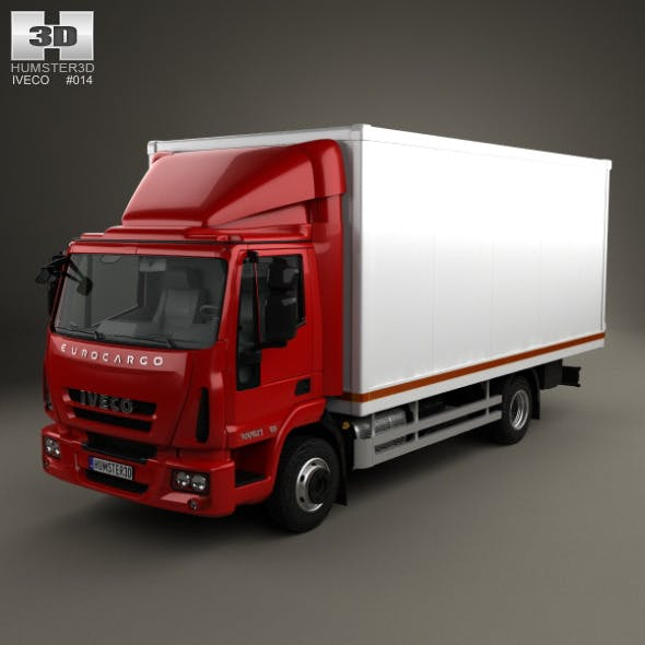 Iveco EuroCargo Box Truck 2013 - 3DOcean Item for Sale