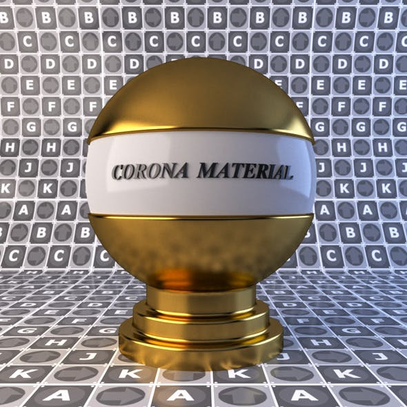 Gold material for corona render