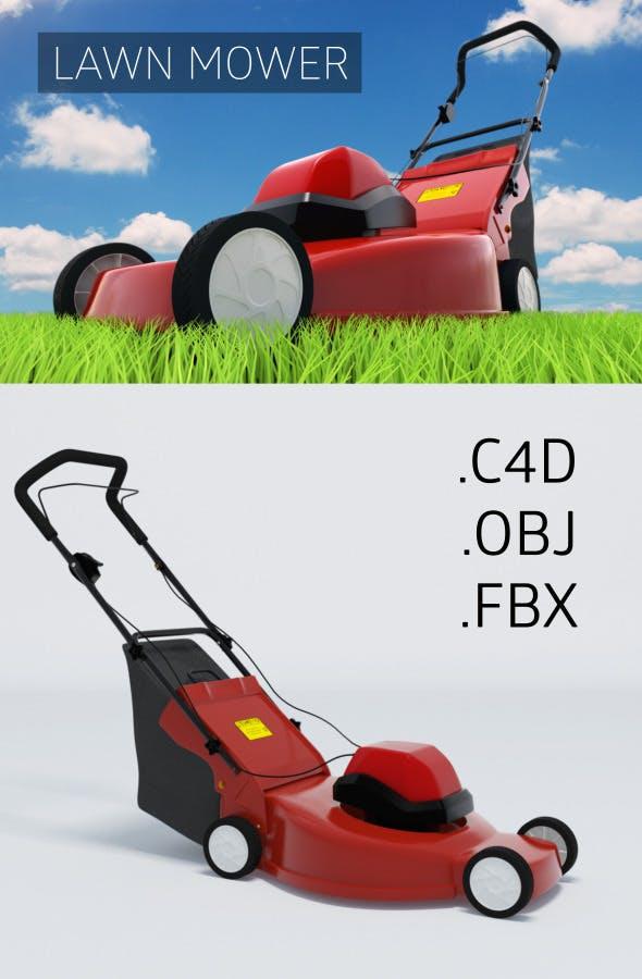 Hi-Poly Lawn Mower - 3DOcean Item for Sale